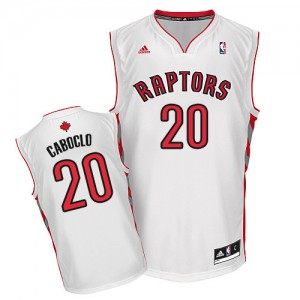Maillot Adidas Blanc Home Swingman Toronto Raptors - Bruno Caboclo #20 - Homme