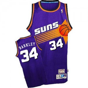 Maillot Mitchell and Ness Violet Throwback Swingman Phoenix Suns - Charles Barkley #34 - Homme
