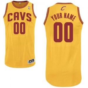 Cleveland Cavaliers Authentic Personnalisé Alternate Maillot d'équipe de NBA - Or pour Enfants