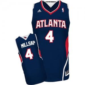 Atlanta Hawks Paul Millsap #4 Road Swingman Maillot d'équipe de NBA - Bleu marin pour Homme