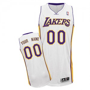 Maillot NBA Authentic Personnalisé Los Angeles Lakers Alternate Blanc - Homme