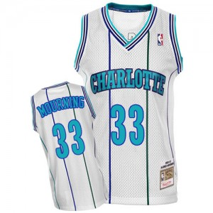 Maillot NBA Authentic Alonzo Mourning #33 Charlotte Hornets Throwback Blanc - Homme