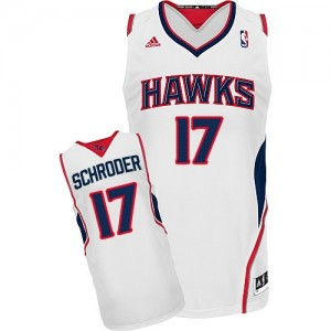 Maillot Adidas Blanc Home Swingman Atlanta Hawks - Dennis Schroder #17 - Homme