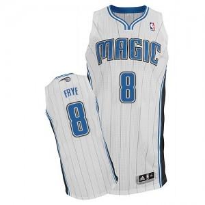 Orlando Magic #8 Adidas Home Blanc Authentic Maillot d'équipe de NBA boutique en ligne - Channing Frye pour Homme