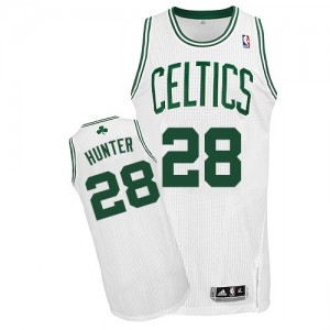 Maillot NBA Boston Celtics #28 R.J. Hunter Blanc Adidas Authentic Home - Homme
