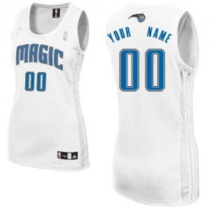 Maillot NBA Orlando Magic Personnalisé Authentic Blanc Adidas Home - Femme