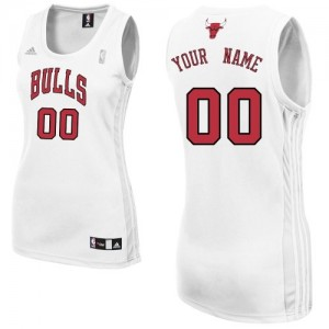 Maillot Adidas Blanc Home Chicago Bulls - Authentic Personnalisé - Femme