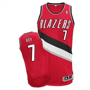 Maillot NBA Authentic Brandon Roy #7 Portland Trail Blazers Alternate Rouge - Homme