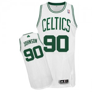 Boston Celtics Amir Johnson #90 Home Authentic Maillot d'équipe de NBA - Blanc pour Homme