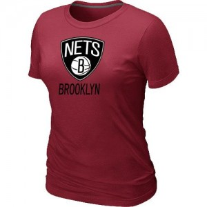 T-Shirts NBA Rouge Brooklyn Nets Big & Tall Femme