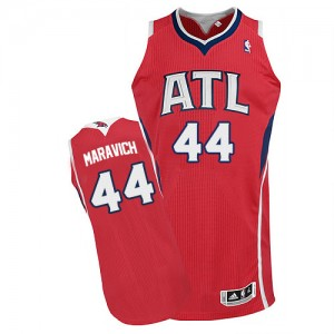 Maillot NBA Authentic Pete Maravich #44 Atlanta Hawks Alternate Rouge - Homme