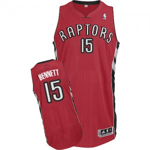 Maillot NBA Authentic Anthony Bennett #15 Toronto Raptors Road Rouge - Homme