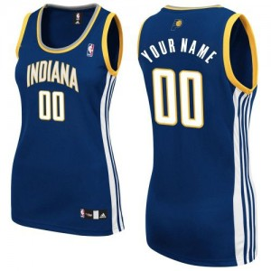 Maillot Adidas Bleu marin Road Indiana Pacers - Authentic Personnalisé - Femme