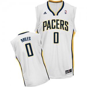 Indiana Pacers C.J. Miles #0 Home Swingman Maillot d'équipe de NBA - Blanc pour Homme