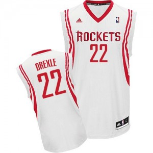 Maillot Adidas Blanc Home Swingman Houston Rockets - Clyde Drexler #22 - Homme