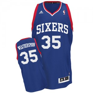 Maillot NBA Bleu royal Clarence Weatherspoon #35 Philadelphia 76ers Alternate Swingman Homme Adidas