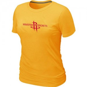 Houston Rockets Big & Tall T-Shirts d'équipe de NBA - Jaune pour Femme