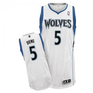 Maillot NBA Authentic Gorgui Dieng #5 Minnesota Timberwolves Home Blanc - Homme