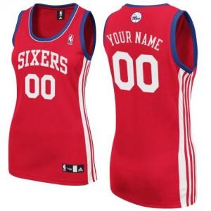 Philadelphia 76ers Personnalisé Adidas Road Rouge Maillot d'équipe de NBA Promotions - Authentic pour Femme