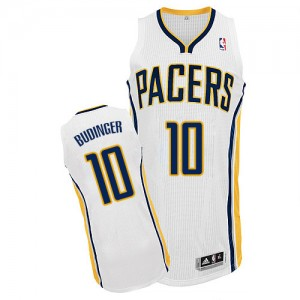 Maillot NBA Authentic Chase Budinger #10 Indiana Pacers Home Blanc - Homme