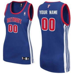 Maillot NBA Authentic Personnalisé Detroit Pistons Road Bleu royal - Femme