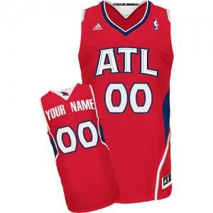 Maillot Adidas Rouge Alternate Atlanta Hawks - Swingman Personnalisé - Femme