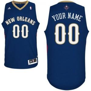 Maillot NBA Swingman Personnalisé New Orleans Pelicans Road Bleu marin - Enfants