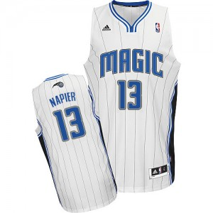 Maillot NBA Blanc Shabazz Napier #13 Orlando Magic Home Swingman Homme Adidas