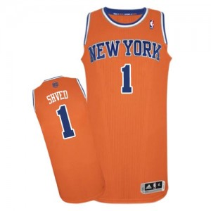 Maillot Authentic New York Knicks NBA Alternate Orange - #1 Alexey Shved - Homme