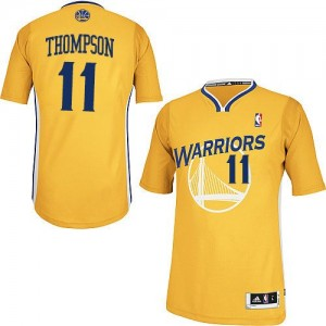 Maillot NBA Or Klay Thompson #11 Golden State Warriors Alternate Authentic Femme Adidas