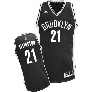 Brooklyn Nets #21 Adidas Road Noir Swingman Maillot d'équipe de NBA Promotions - Wayne Ellington pour Homme