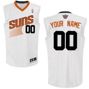 Phoenix Suns Authentic Personnalisé Home Maillot d'équipe de NBA - Blanc pour Femme