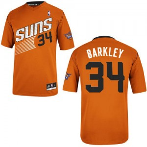 Maillot NBA Orange Charles Barkley #34 Phoenix Suns Alternate Authentic Homme Adidas