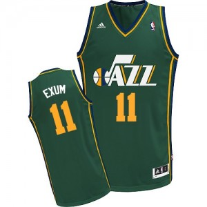Utah Jazz Dante Exum #11 Alternate Swingman Maillot d'équipe de NBA - Vert pour Homme