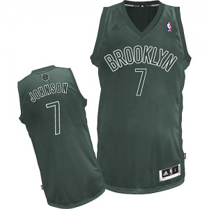 Brooklyn Nets Joe Johnson #7 Big Color Fashion Swingman Maillot d'équipe de NBA - Gris pour Homme
