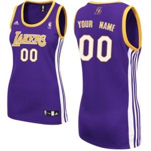 Los Angeles Lakers Personnalisé Adidas Road Violet Maillot d'équipe de NBA en ligne - Swingman pour Femme