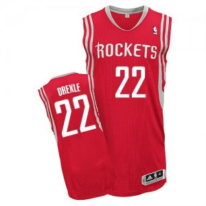 Maillot NBA Rouge Clyde Drexler #22 Houston Rockets Road Authentic Homme Adidas