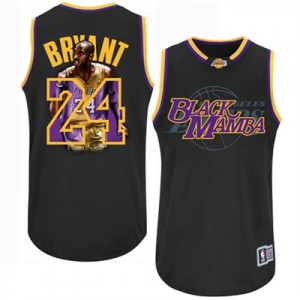 Maillot Authentic Los Angeles Lakers NBA Notorious Noir - #24 Kobe Bryant - Homme