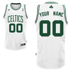 Maillot NBA Boston Celtics Personnalisé Swingman Blanc Adidas Home - Enfants