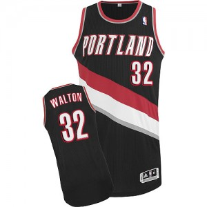 Maillot Adidas Noir Road Authentic Portland Trail Blazers - Bill Walton #32 - Homme