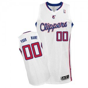 Maillot NBA Authentic Personnalisé Los Angeles Clippers Home Blanc - Homme