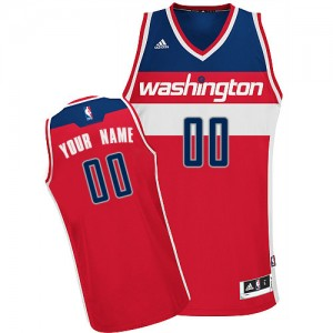 Maillot Adidas Rouge Road Washington Wizards - Swingman Personnalisé - Femme