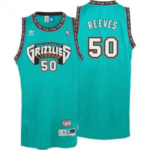 Maillot NBA Memphis Grizzlies #50 Bryant Reeves Vert Adidas Swingman Hardwood Classics Throwback - Homme