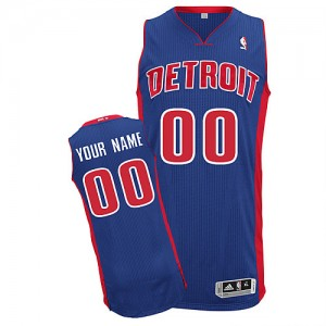 Detroit Pistons Authentic Personnalisé Road Maillot d'équipe de NBA - Bleu royal pour Homme