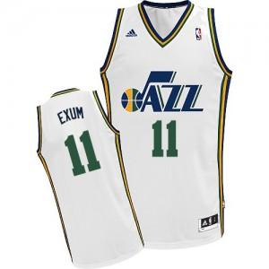 Utah Jazz Dante Exum #11 Home Swingman Maillot d'équipe de NBA - Blanc pour Homme