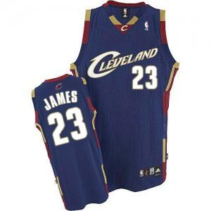 Cleveland Cavaliers #23 Adidas Bleu marin Swingman Maillot d'équipe de NBA 100% authentique - LeBron James pour Homme