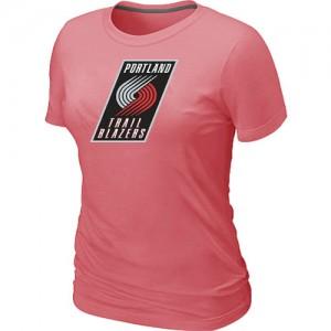 Portland Trail Blazers Big & Tall T-Shirts d'équipe de NBA - Rose pour Femme
