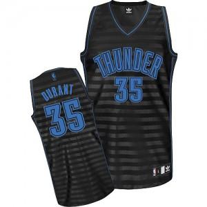 Oklahoma City Thunder Kevin Durant #35 Groove Authentic Maillot d'équipe de NBA - Gris noir pour Homme