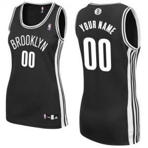 Brooklyn Nets Personnalisé Adidas Road Noir Maillot d'équipe de NBA Soldes discount - Authentic pour Femme