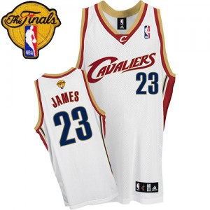 Maillot Swingman Cleveland Cavaliers NBA 2015 The Finals Patch Blanc - #23 LeBron James - Homme